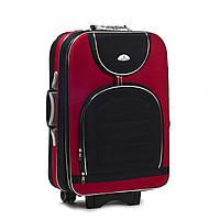 Чемодан Suitcase 801 A, малый Красный-черные карманы