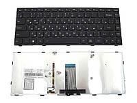 Клавиатура для ноутбука Lenovo g40 с фреймом RU черная новая