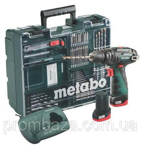 Акумуляторний ударний шуруповерт Metabo PowerMaxx SB Basic Set, фото 2