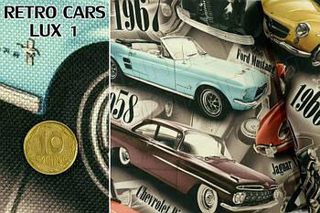 Тканина меблева оббивна Retro Cars