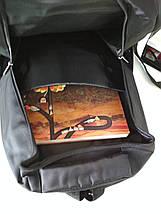 Черный школьный рюкзак для подростка 47*33*17 см, фото 3