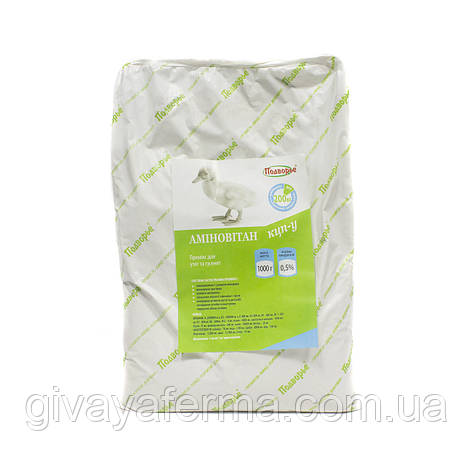 Витаминный премикс Аминовитан КЦП-У утята 0,5%, 1 кг, для утят и гусят, витаминно-минеральная добавка, фото 2