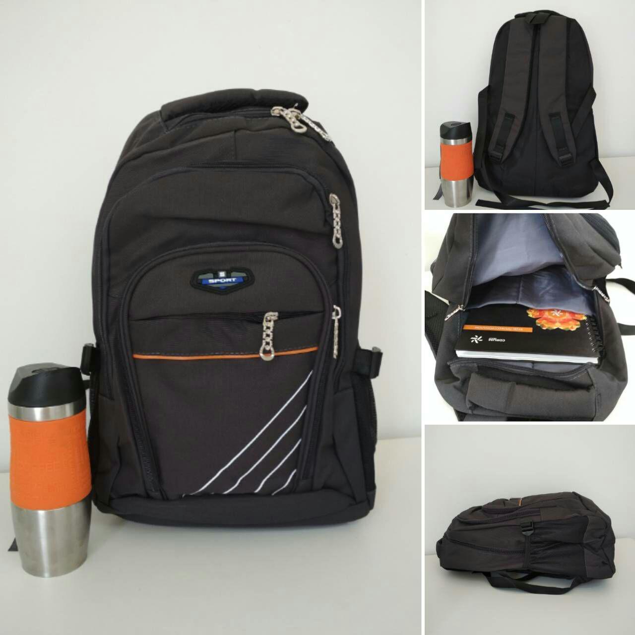Подростковый школьный рюкзак с наружным карманом и широкими лямками 45*32*16 см