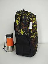 Тканевый школьный рюкзак с косым карманом и принтом 45*32*15 см, фото 2