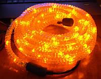Светодиодный шнур-гирлянда, led-лампочки желтого цвета, длина 8 метров, 5 световых режимов, для дома и улицы