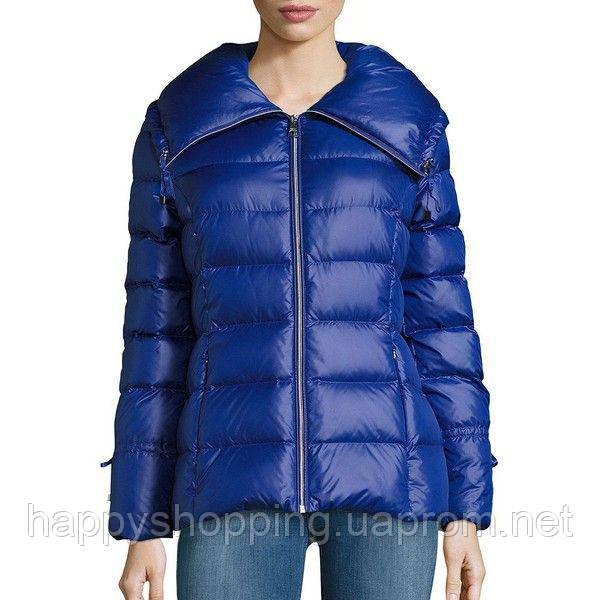 Женский синий пуховик известного бренда Karl Lagerfeld