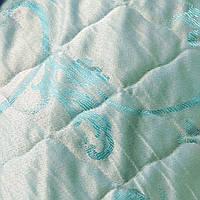 Ткань стёганая для матрасов ширина 2,15 метра сублимация 1002-голубой