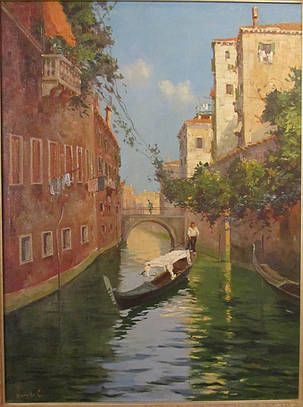 Картина Венеция, Vianello Cesare кон ХIХ века Импрессионизм, фото 2