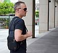 """Мужской рюкзак """"Max"""" 19 - черный c перфорацией, фото 2"""