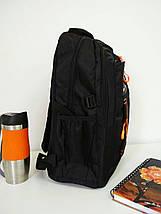 Повседневный школьный черный рюкзак для мальчика 40*30*20 см, фото 3
