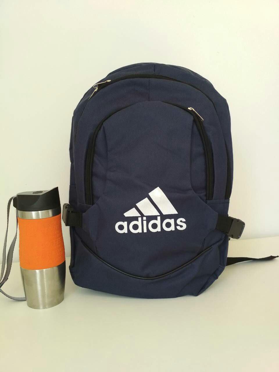 Стильный подростковый школьный рюкзак с широкими лямками и надписью