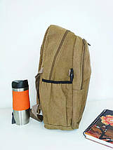 Школьный текстильный рюкзак с рисунком велосипедиста 45*29*16 см, фото 3