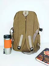 Школьный текстильный рюкзак с рисунком велосипедиста 45*29*16 см, фото 2