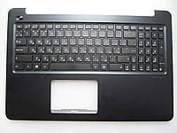 Клавиатура для ноутбуков Asus E502NA в сборе: черная в крышке темно синего цвета