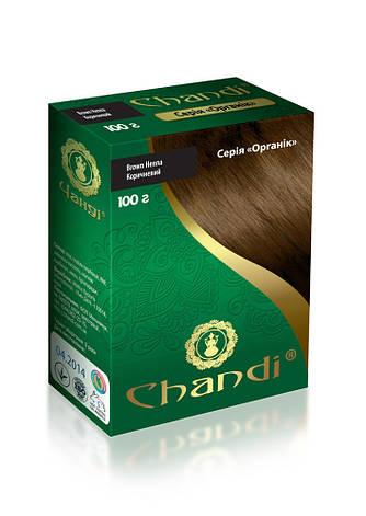 Краска для волос Chandi. Серия Органик. Коричневый, миниатюра, 30г, фото 2