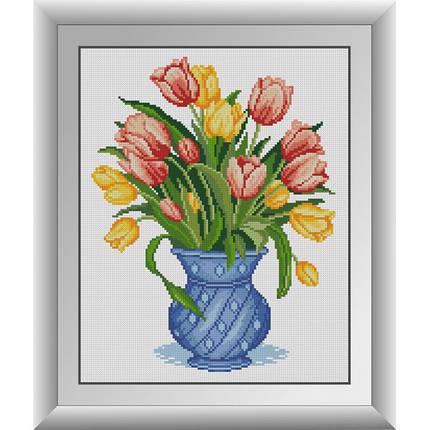 """30715 Набор алмазной живописи """"Тюльпаны в синей вазе"""", фото 2"""