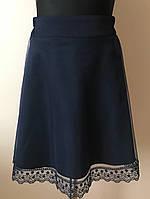 Школьная юбка для девочки,синяя,школьная форма 2018, фото 1