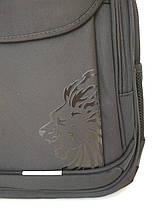 Школьный рюкзак черного цвета с тремя отделениями 46*16*30 см, фото 2