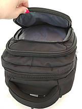 Школьный рюкзак черного цвета с тремя отделениями 46*16*30 см, фото 3
