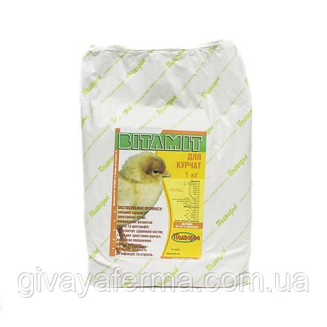 Витаминный премикс Витамит - цыпленок 1%, 1 кг, витаминно-минеральная кормовая добавка, фото 2