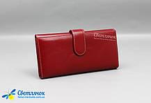 Кошелек женский красный кожаный Dioumisa, фото 2