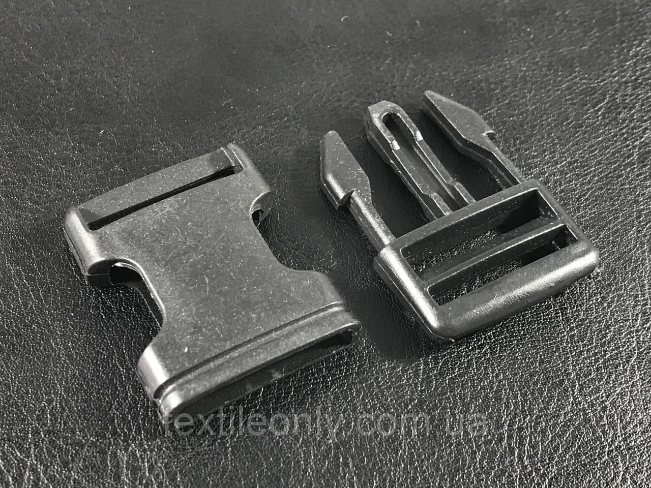 Карабин фаст цвет черный 25 мм