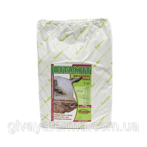 Премикс Витамит для откорма свиней 1%, 1 кг, витаминный, фото 2