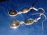 Лабрадор. Серьги с камнем лабрадор в серебре., фото 3