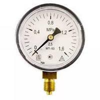Манометр МТ-100 резьбаМ20х1.5 (давление 0.4-2.5 МПа)