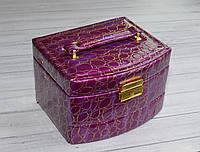 Шкатулка сейф для украшений и ювелирных изделий фиолетовая., фото 1