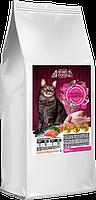 Сухой корм для взрослых кошек  HOME FOOD Индейка-лосось 0,9 кг
