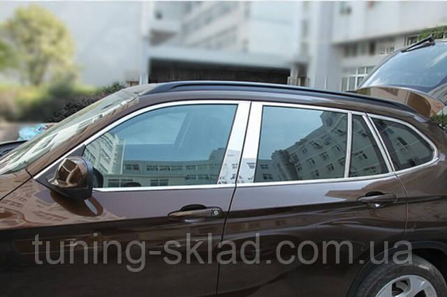 Хром молдинги дверных стоек BMW X3 E83 (БМВ Х3 Е83)