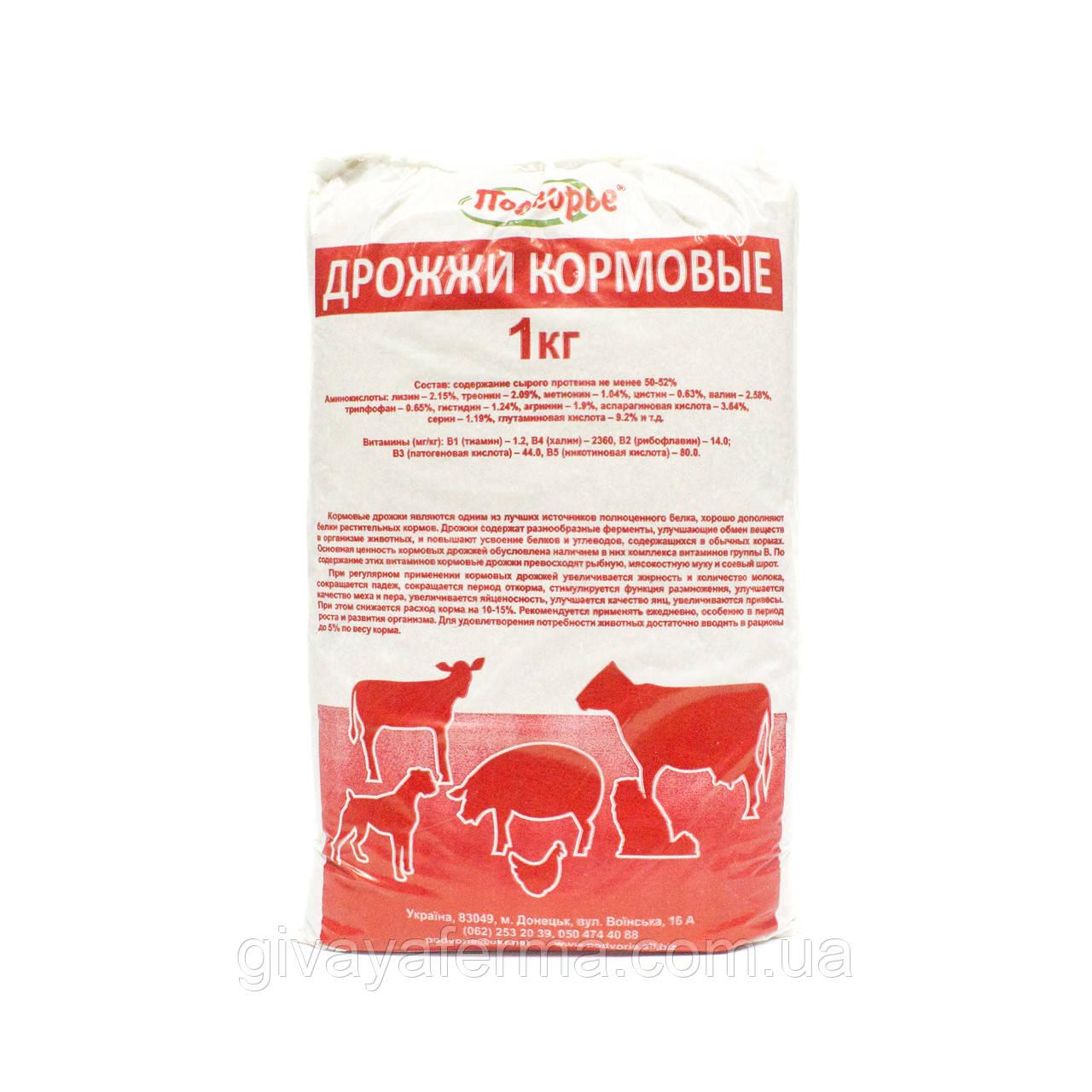 Дрожжи кормовые Протеин 39%, 1 кг, добавка в корм
