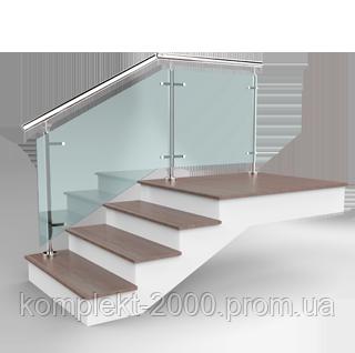 Стеклянные ограждения лестницы из нержавеющей стали | Нержавеющие ограждения со стеклом - Цена