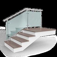 Стеклянные ограждения лестницы из нержавеющей стали | Нержавеющие ограждения со стеклом - Цена, фото 1