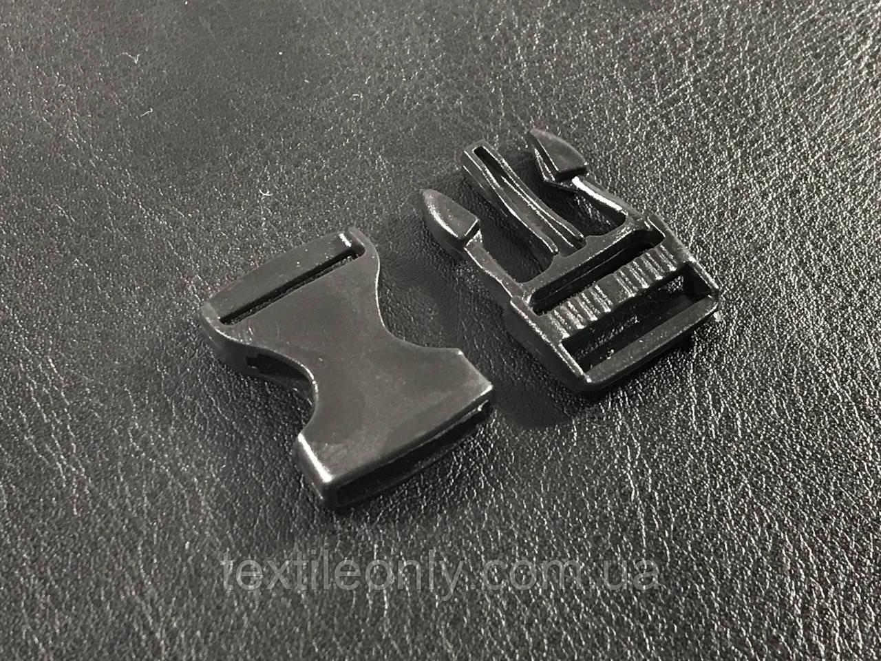 Карабин фаст цвет черный 15 мм