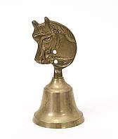 Старый бронзовый колокольчик, бронза, Англия, лошадь, фото 1