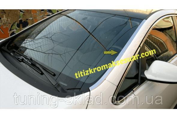 Хром окантовка лобового стекла Opel Astra J 2010  (Опель Астра)