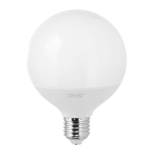 Светодиод E27 IKEA LEDARE LED 1000 лм 95 мм шарообразный теплый оттенок с регулировкой освещения 903.632.99