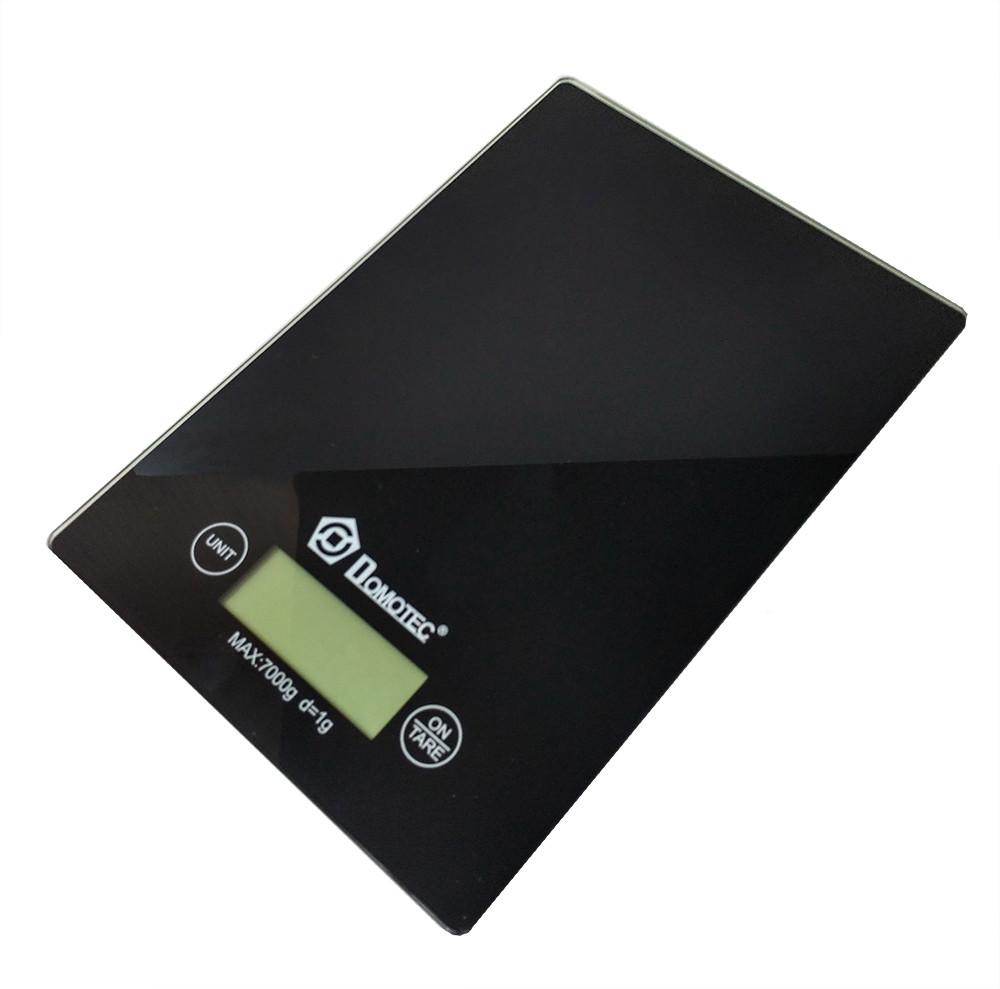 Весы кухонные электронные до 7кг Domotec MS-912 Black