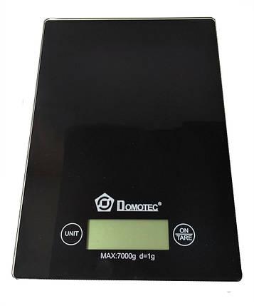 Весы кухонные электронные до 7кг Domotec MS-912 Black, фото 2