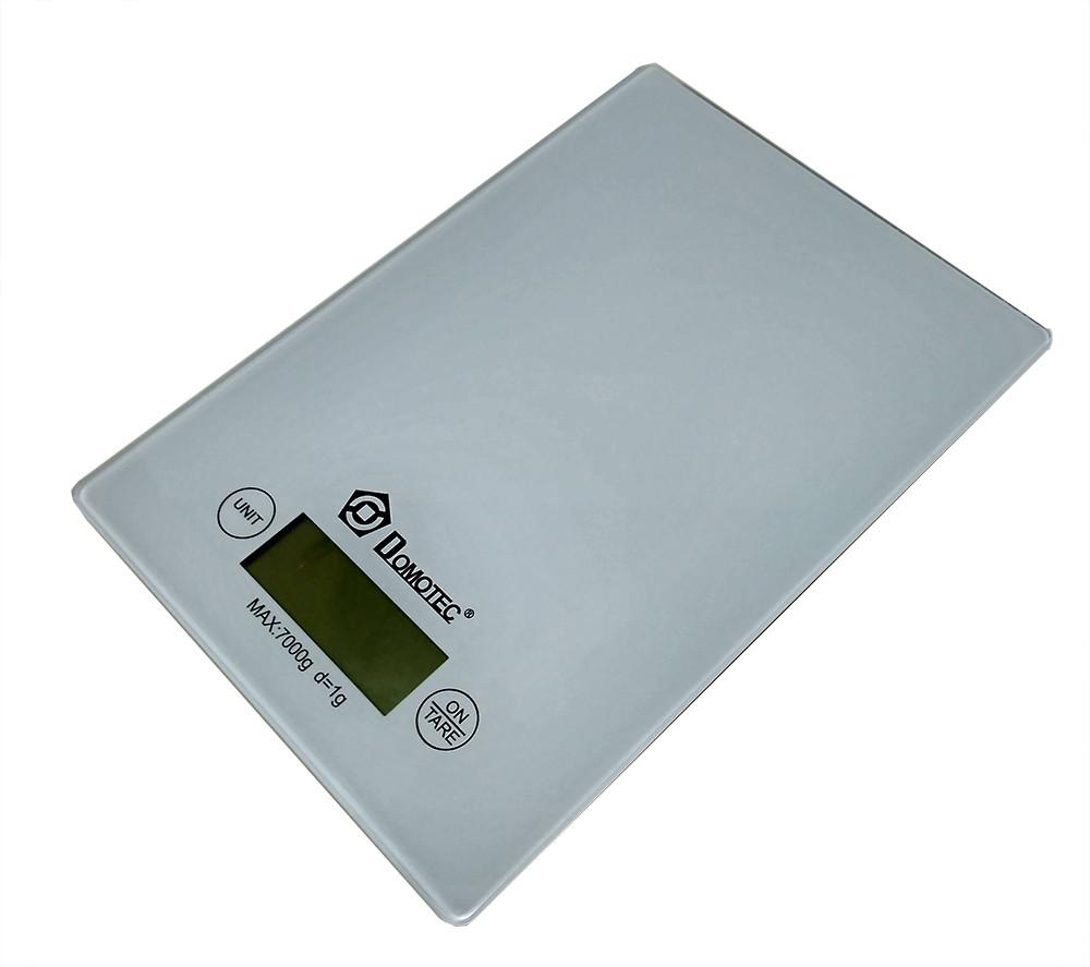 Весы кухонные электронные до 7кг Domotec MS-912 White
