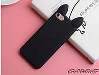 Чехол Koko Cat із вушками на Iphone 7 Plus силикон для айфона ушки ТПУ 3D кот кіт котик case