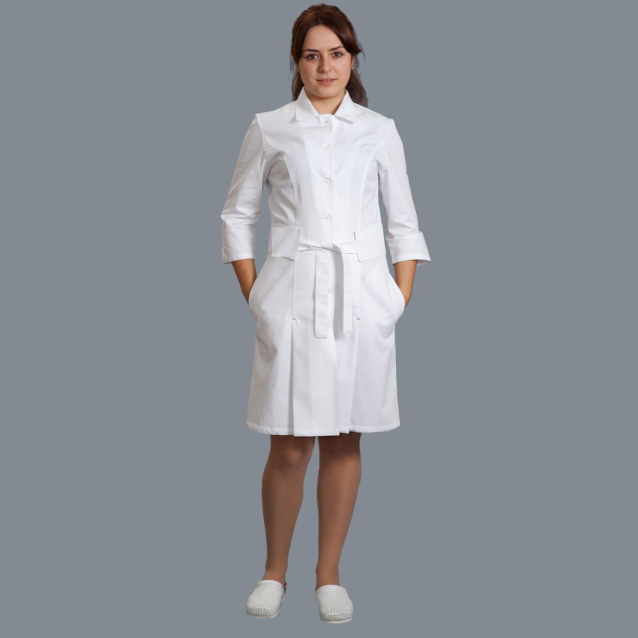 Медицинский женский халат Жанна р.48 (плотная ткань 100% хлопок)