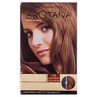 Краска для волос Srotana 7.43 gold brown