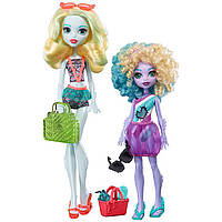 "Набор кукол ""Монстер Хай Семья"" Лагуна Блю и ее сестричка / Monster High® Monster Family Dolls 2-Pack"