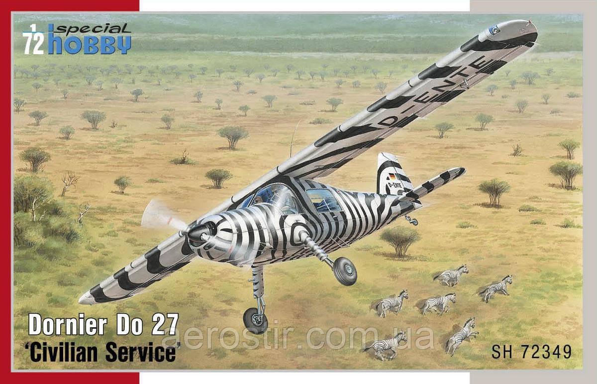 """Dornier Do 27 """"Civilian Service"""" 1/72  Special Hobby 72349"""