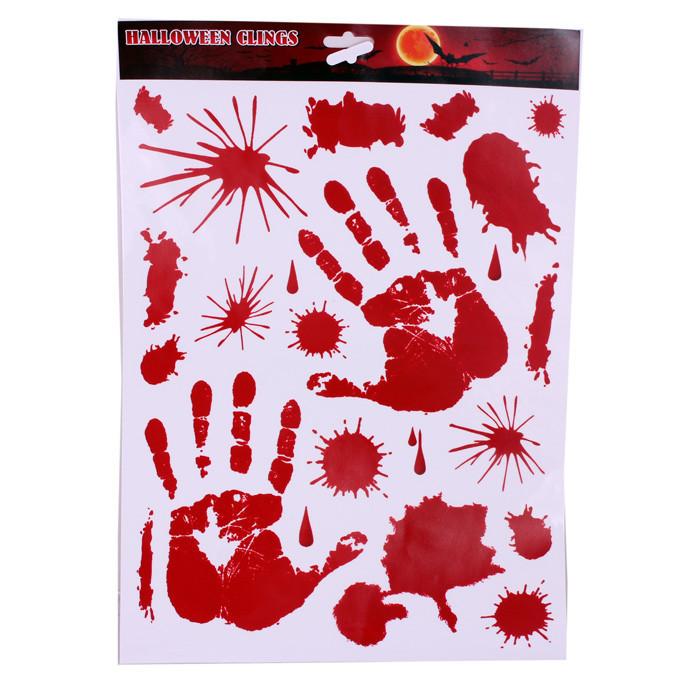 Найклейки интерьерные Кровавые Руки 45х30см