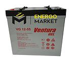 Аккумуляторная батарея Ventura VG 12-55 Gel, фото 2