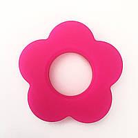 Колечко - Цветок (силиконовое) - Малина